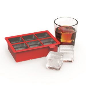 Colossal™: Red Silicone 2-Inch Ice Cube Tray
